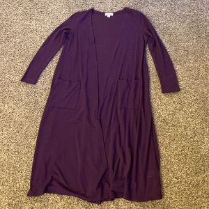 Small LuLaRoe Purple Sarah Long Sweater Duster